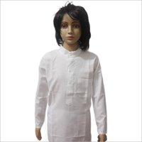 Lucknowi White Cotton Kurta Pajama Set