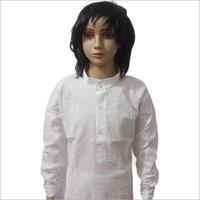 Lucknowi White Lining Cotton Kurta Pajama