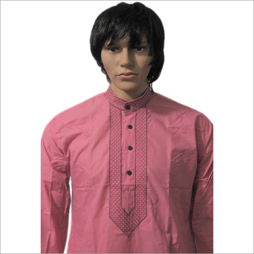 Men Lucknowi Collar Embriodery