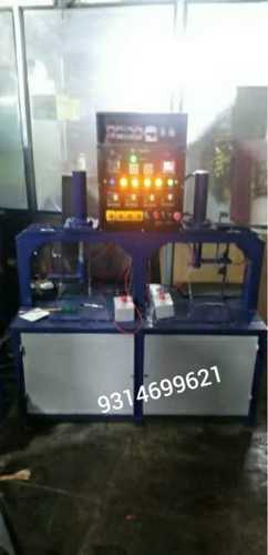 Double die hydraulic semi-automatic paper plate making machine
