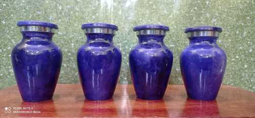 ALUMINIUM SET OF BLUE CREMATION URN FUNERAL SUPPLIES
