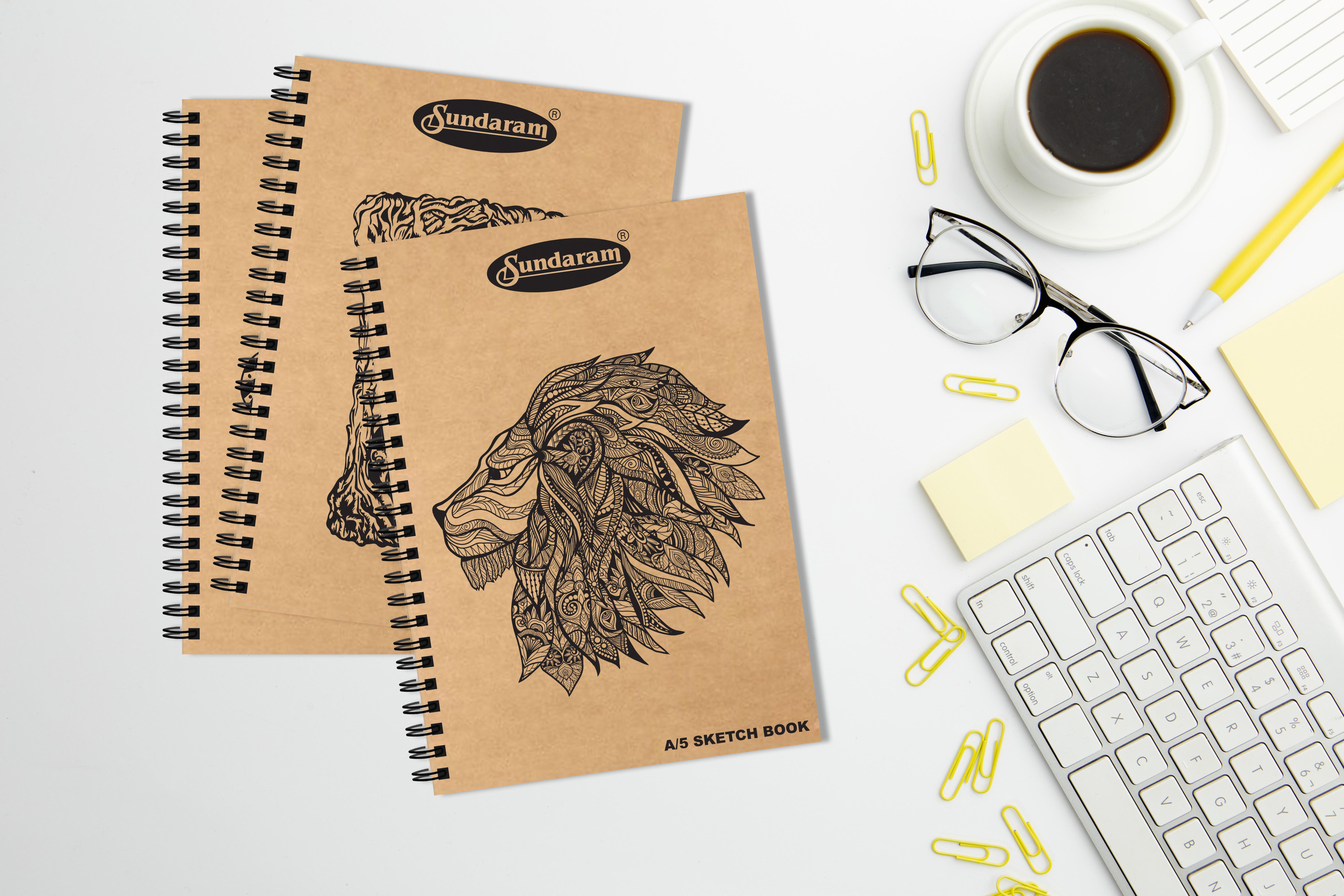 Sundaram A/5 Sketch Book - 100 Pages (D-14)
