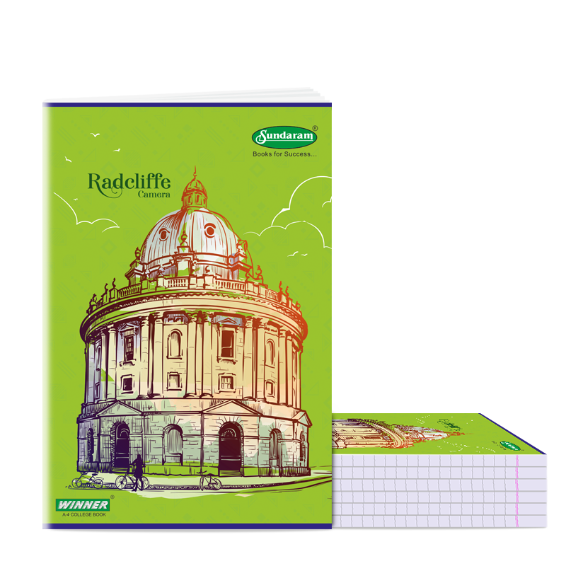 Sundaram Winner A/4  Book (Unrulled) - 172 Pages (C-11P)