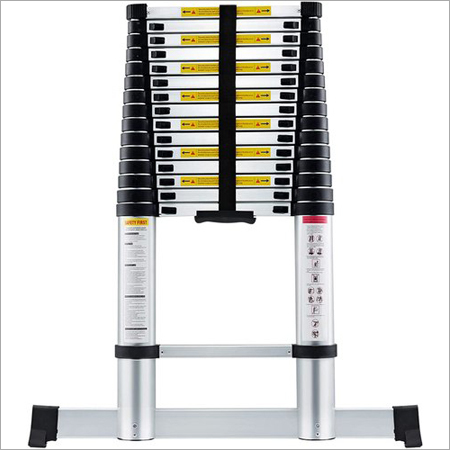 16.5 FT (5.0 Meter) Portable Telescopic Aluminum Ladder with Stabilizer Bar,13 Steps