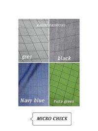 Polyester Micro Mango Checks Fabric
