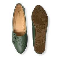 Party Wear Jutti For Woman (Green)