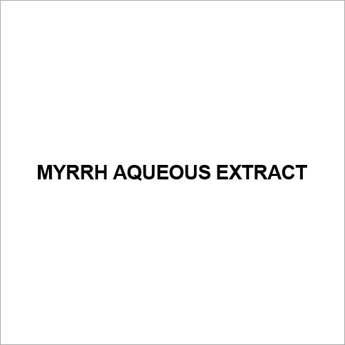 Myrrh Aqueous Extract