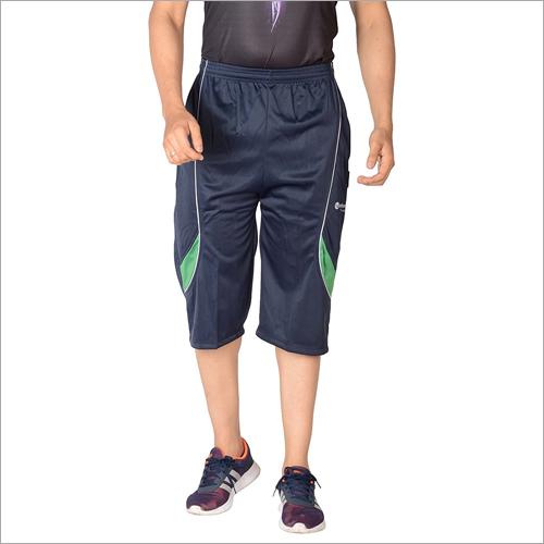 Mens Blue Synthetic Shorts