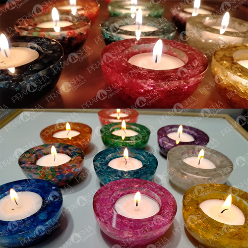 Prayosha Crystals Candle