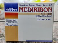 Medical Absorbent Cotton Ribbon Gauze B.P.