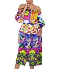 DeeArna Export's Fancy Multi-Design Digital Print Khadi Rayon Unstitch Purple Fabric Material for Women's Clothing (58