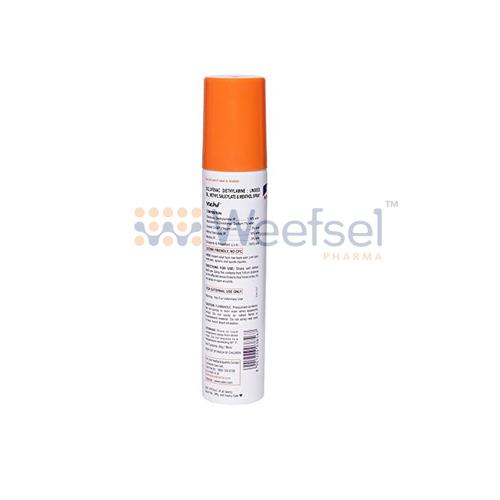 Diclofenac, Linseed Oil, Methyl Salicylate and Menthol Spray
