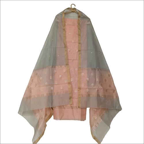 Pure Chanderi Handloom Masrise Silk Suit