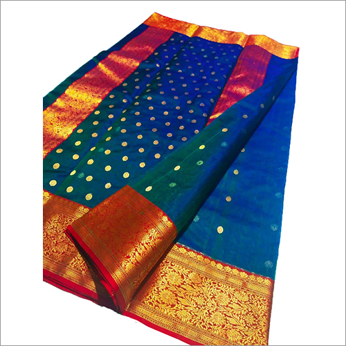 Ladies Pure Chanderi Handloom Katan Silk Saree