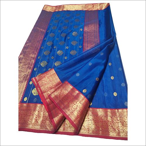 Ladies Chanderi Handloom Pattu Silk Saree