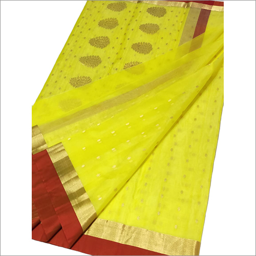 Ladies Pure Chanderi Handloom Pattu Silk Saree
