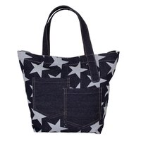 12 Oz Denim Tote Bag With One Color Print Allover