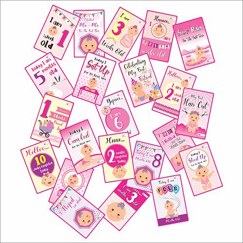 Girl Milestone Card Box