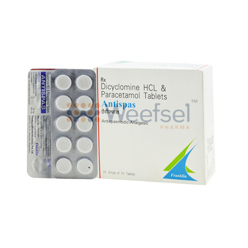 Paracetamol and Dicyclomine Tablets