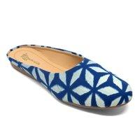 Women printed blue Flats Sandal
