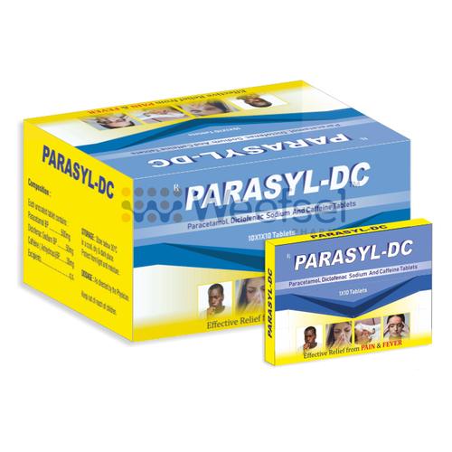 Paracetamol, Diclofenac Potassium and Caffeine Tablets