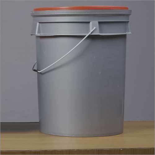 Plastic Silver Bucket