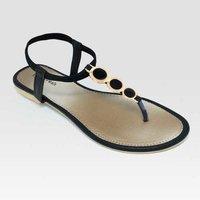 Ladies Black Flats Sandal
