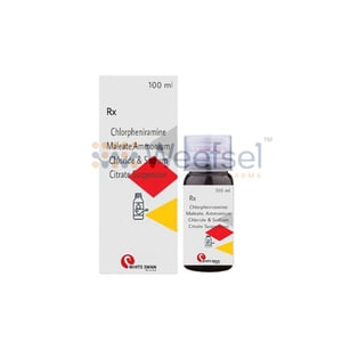 Chlorpheniramine, Ammonium Chloride and Sodium Citrate Syrup