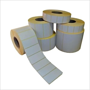 White Barcode Label Roll