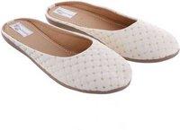 Ladies White Flats Sandal