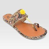 Ladies Yellow Flats Sandal