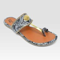 Ladies Grey Flats Sandal