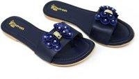 Ladies Blue Flats Sandal