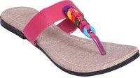 Women Pink Flats Sandal