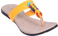 Women Yellow Flats Sandal