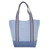 12 Oz Denim Tote Bag With Lining & Web Handle