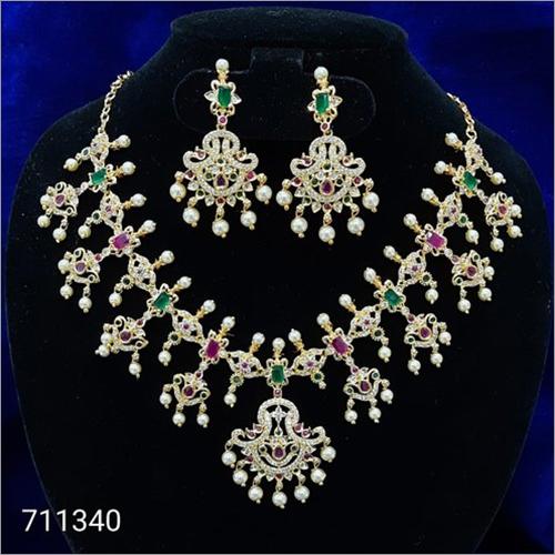 Cz 711340 Artificial Necklace Set