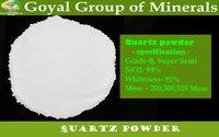 Snow white quartz powder