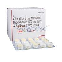 Glimepiride, Metformin and Voglibose Tablets