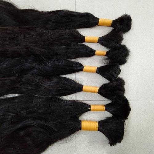 Natural Black & Brown Bulk Indian Human Hair