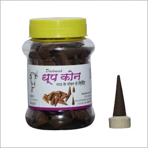 Cow Dung Dhoop Cone