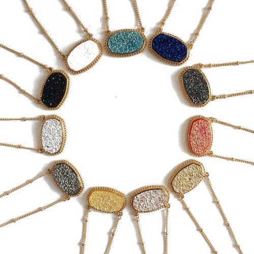 Agate Druzy Pendant
