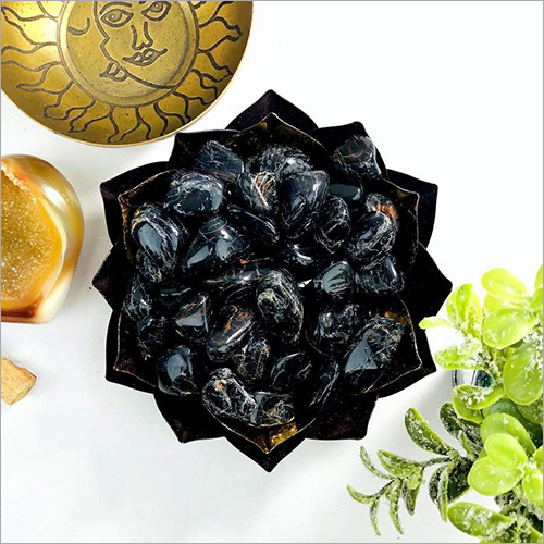 Black Tourmaline Tumbled Gemstones