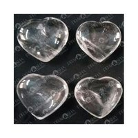 Prayosha Crystals( Clear Quartz) Heart