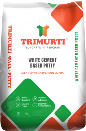 Trimurti 40 Kg White Cement Based Putty