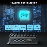 Fanless Industrial PC Computer Core i5 4200U  WIFI Win10 Ubuntu Barebone system