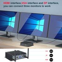 Fanless Industrial PC Computer Core i7 4500U Win10 Ubuntu Barebone system