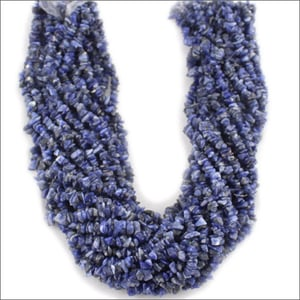 36 Inches Sodalite Uncut Chip Beads Long Strand