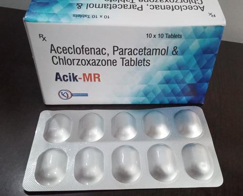 ACELOFENAC PARACETAMOL & CHLORZOXAZONE TAB
