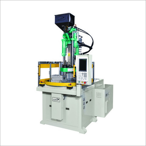 Automatic Two Station Rotary Type Vertical Plastic Injection Moulding Machine